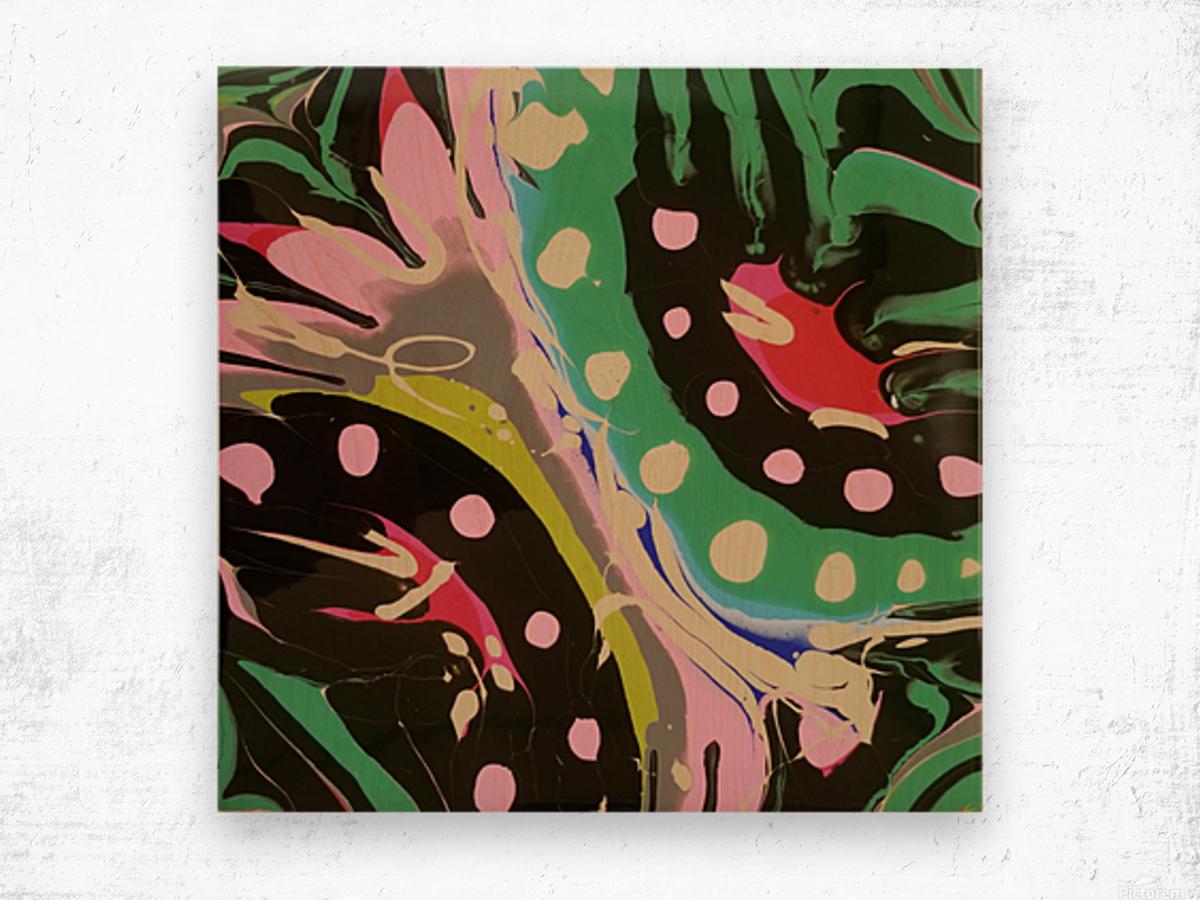Tropical Branch Jade Wood print
