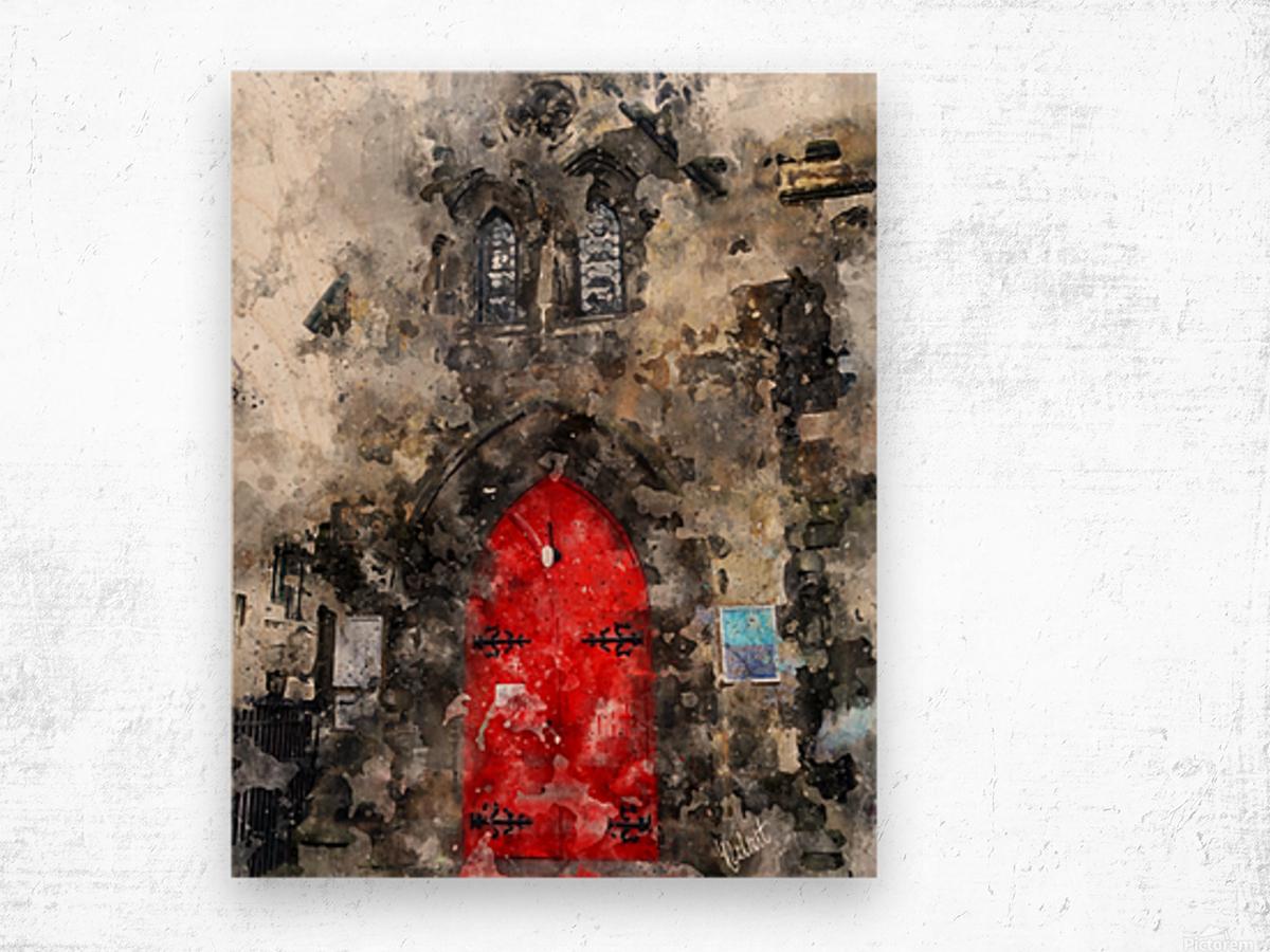 Red Door Edinburgh Wood print