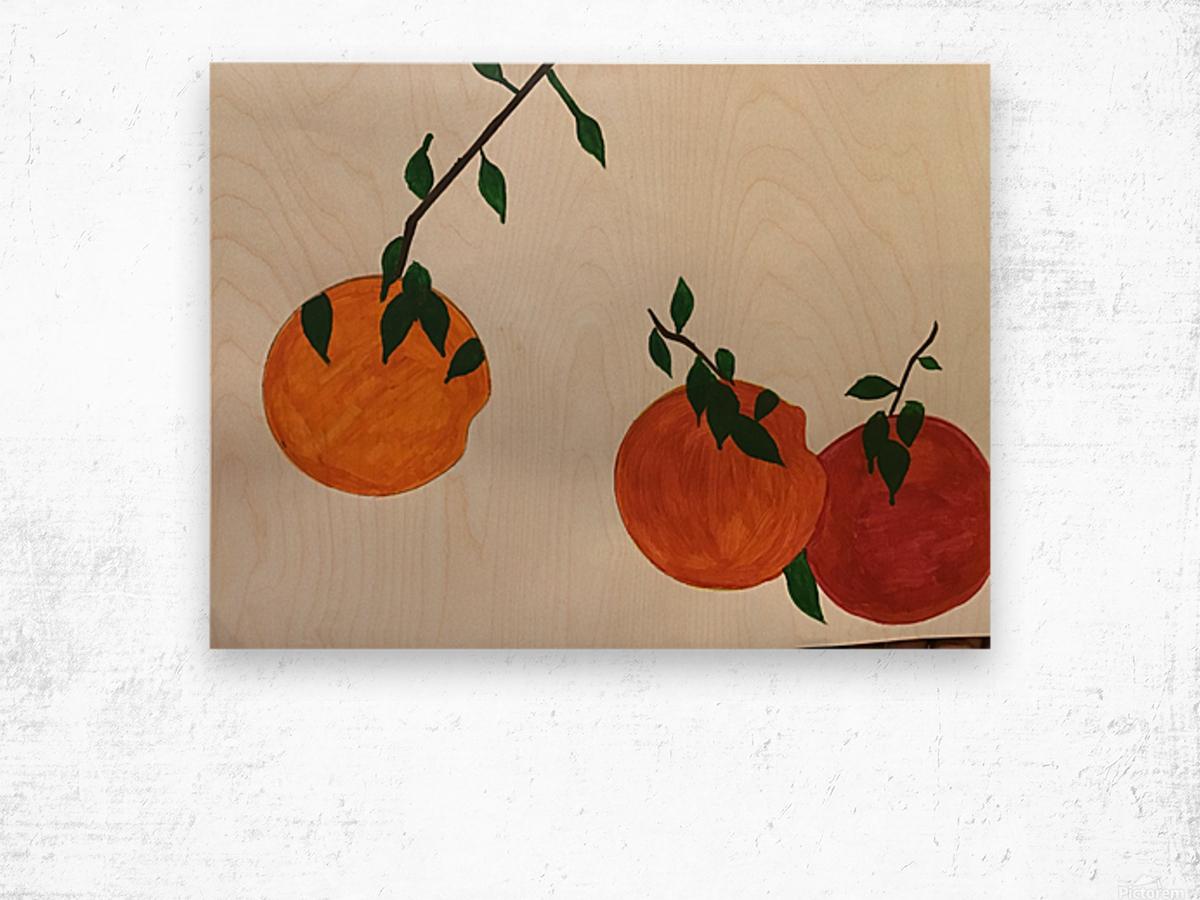 Orange You in Love Wood print