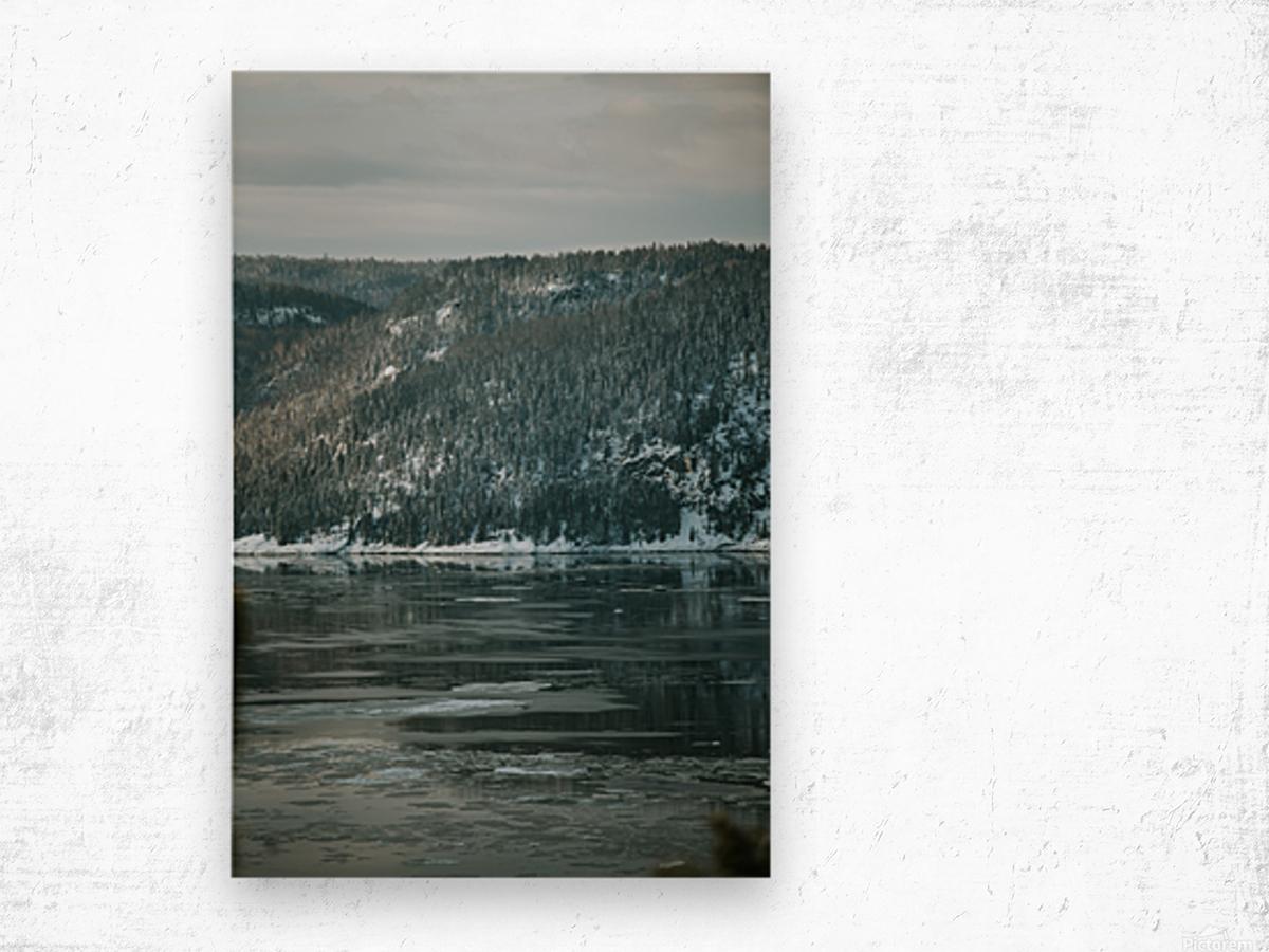 Le fjord du Saguenay en hiver Impression sur bois