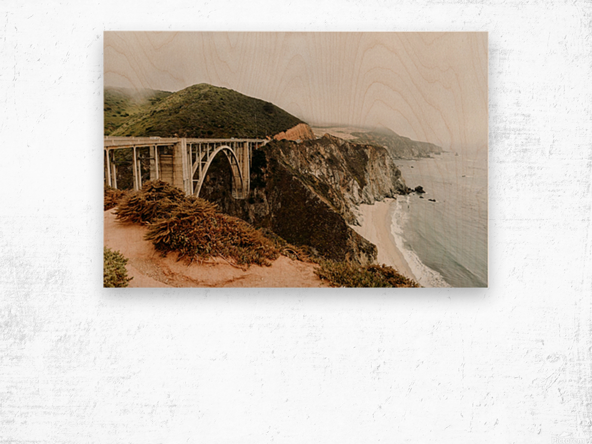 Bixby Bridge California Impression sur bois