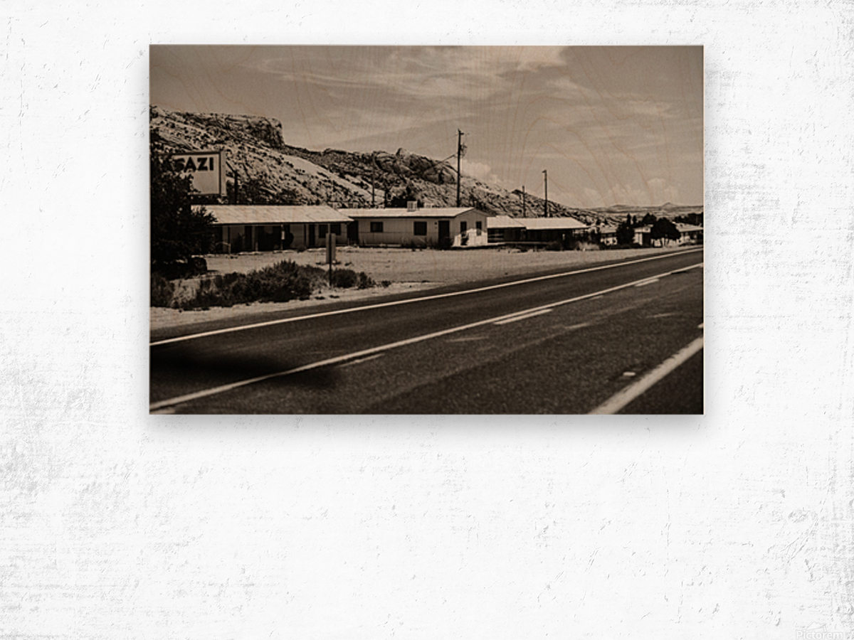 Old Motel Impression sur bois