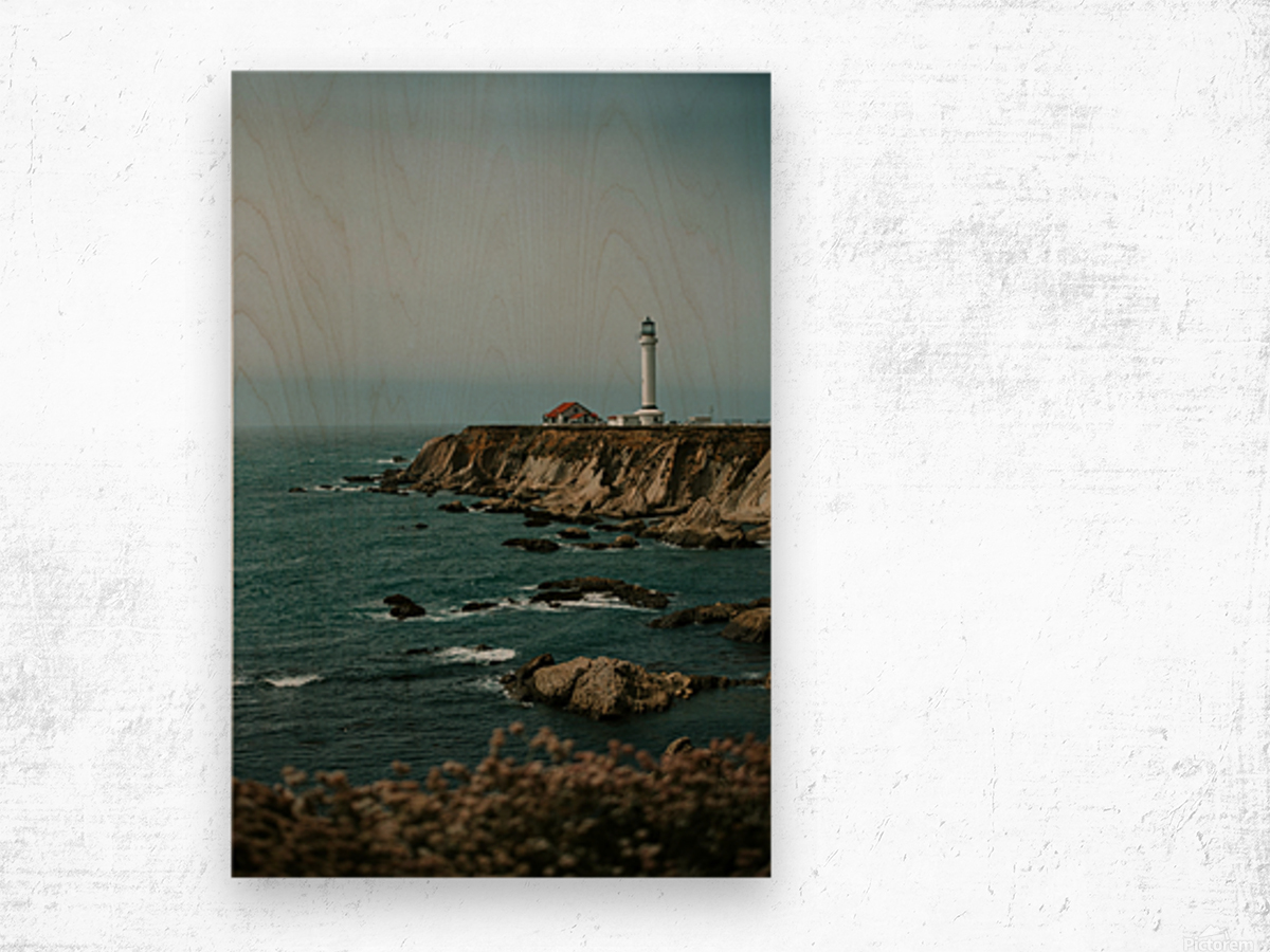 Point Arena Lighthouse California Impression sur bois
