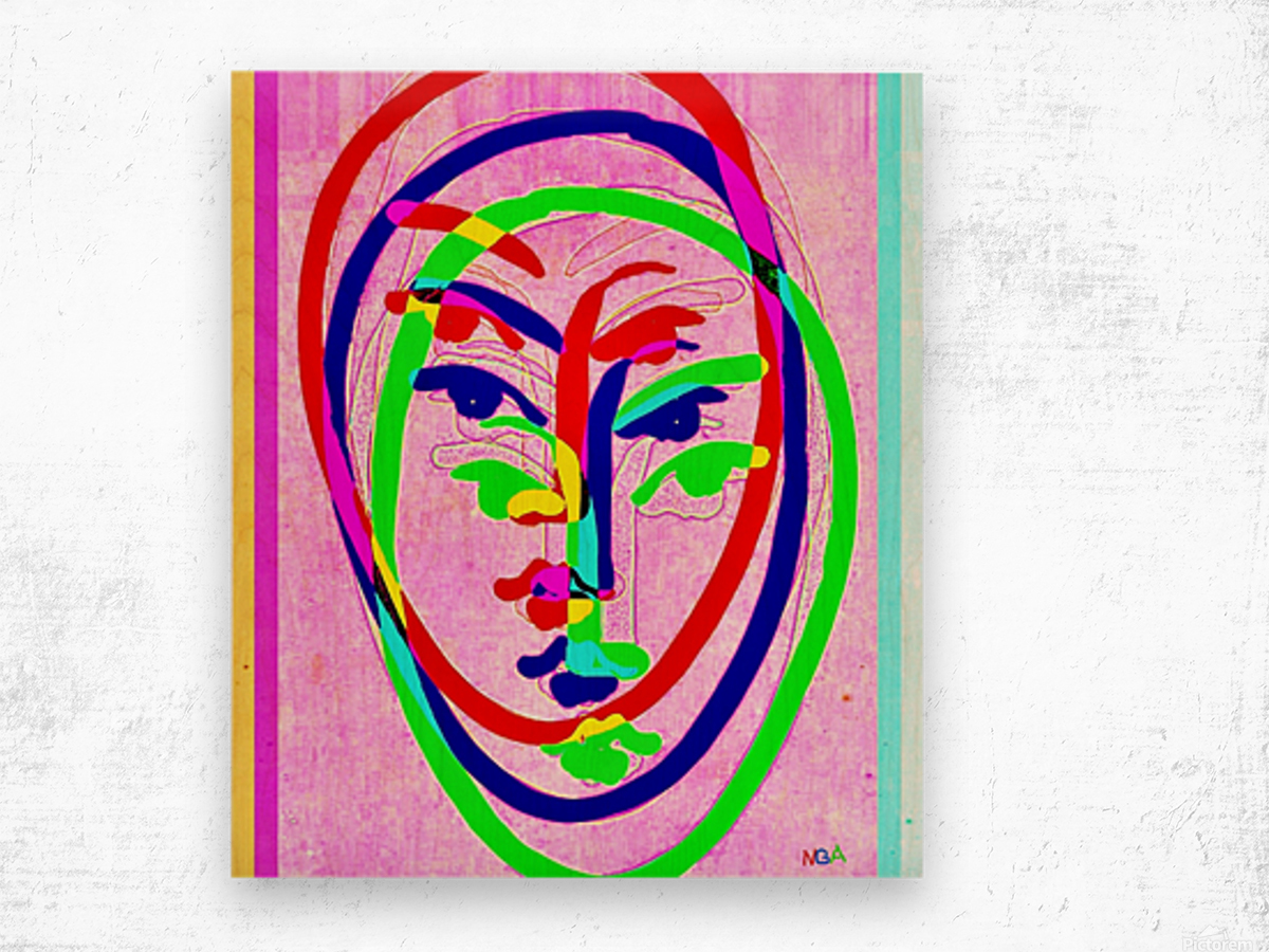 Red Blue Green 2 - by Neil Gairn Adams Wood print