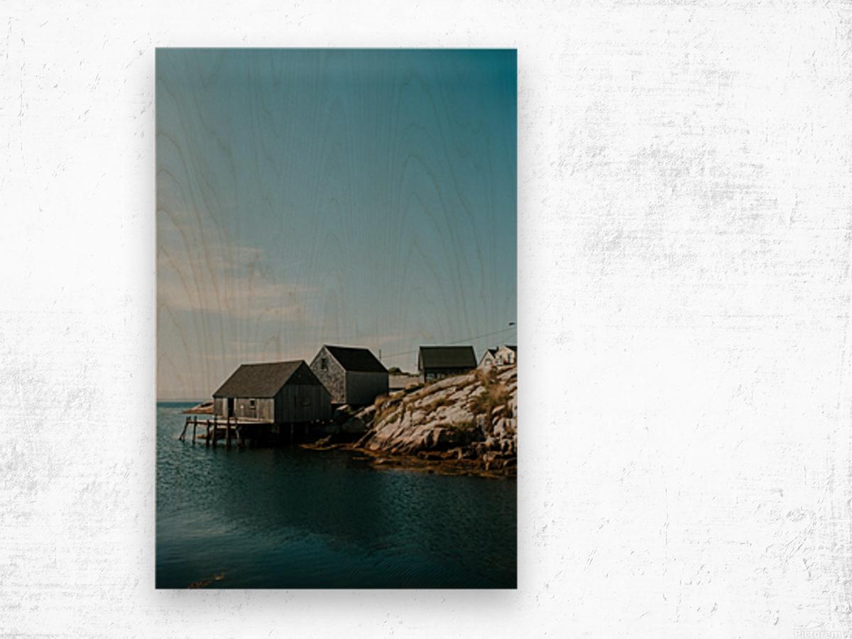 Peggys Cove Nova Scotia Impression sur bois