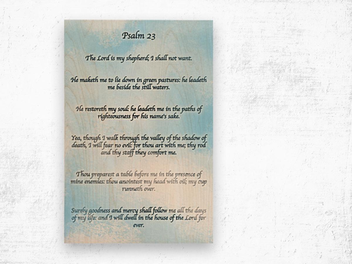 Psalm 23 Clouds Wood print