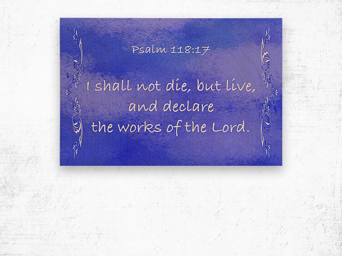 Psalm 118 17 4BL Wood print