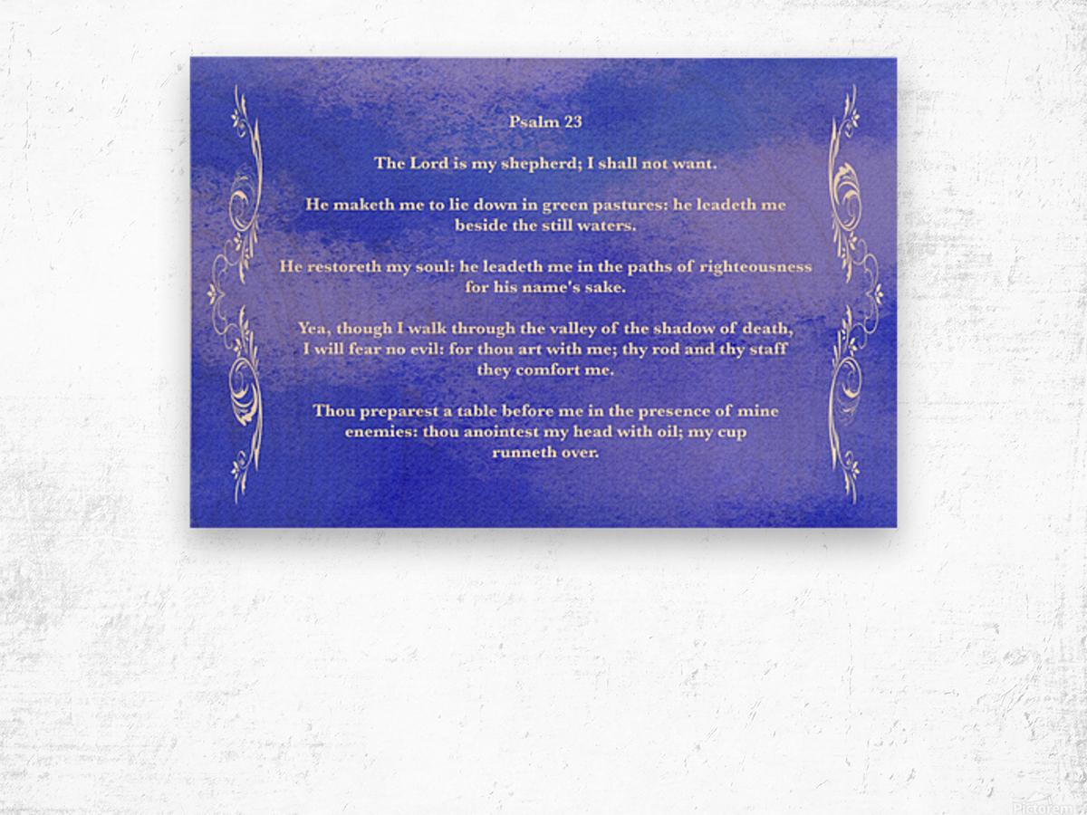 Psalm 23 4BL Wood print