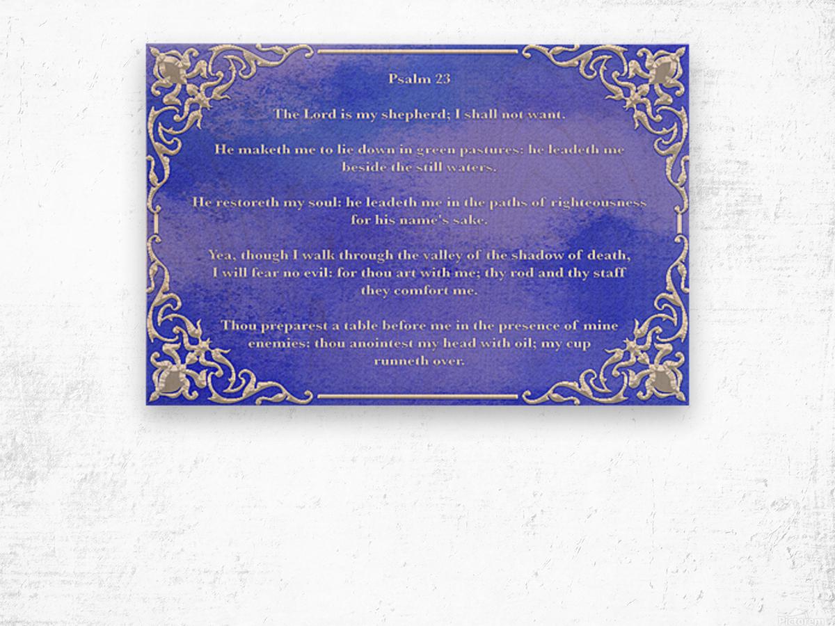 Psalm 23 1BL Wood print