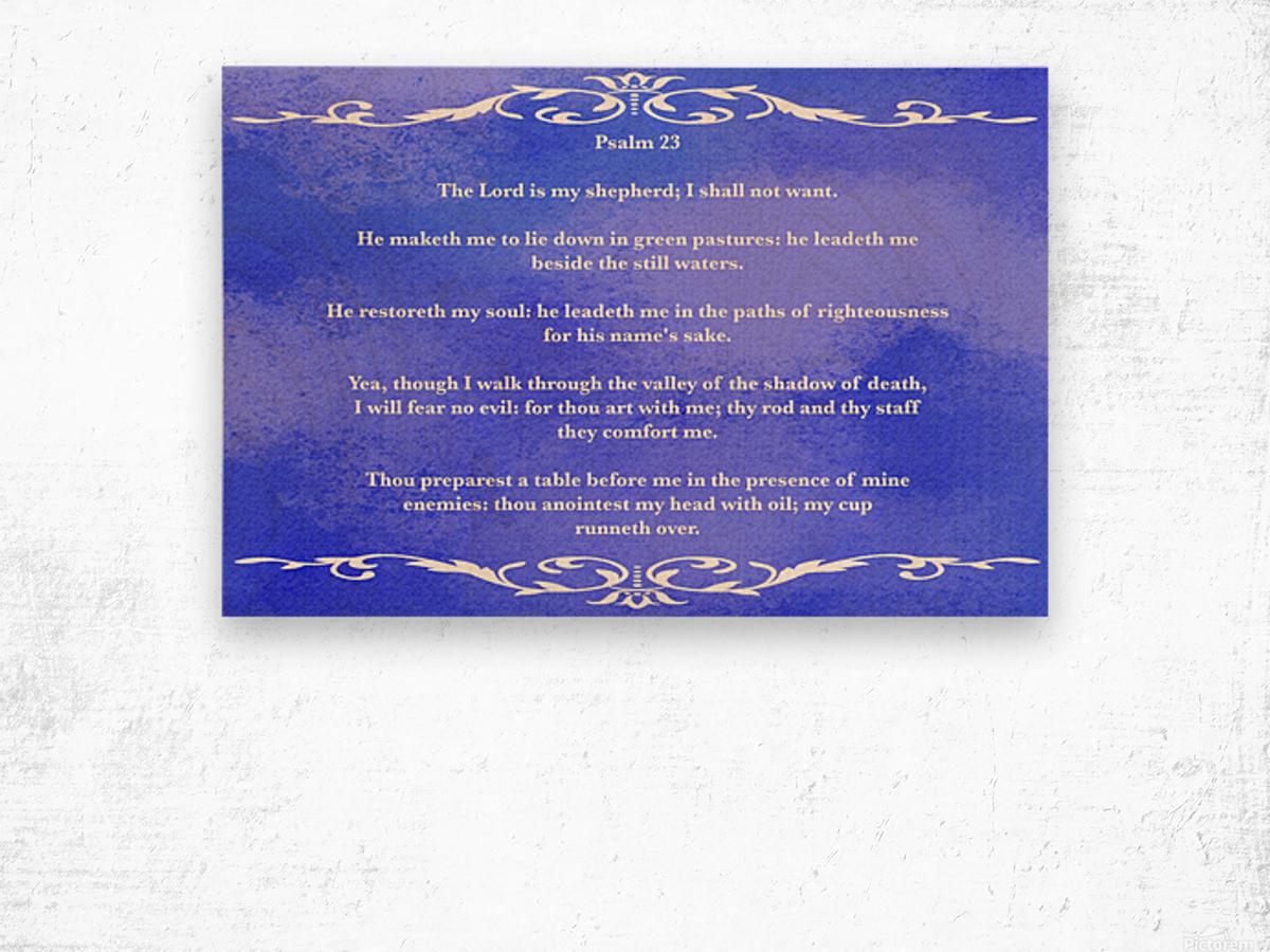 Psalm 23 3BL Wood print