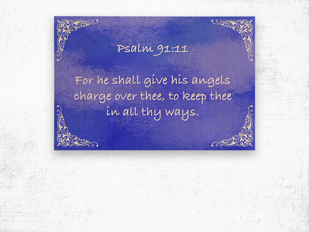 Psalm 91 11 5BL Wood print