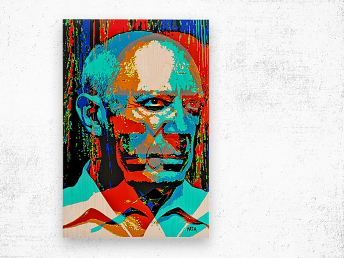 Pablo Picasso - by Neil Gairn Adams Wood print