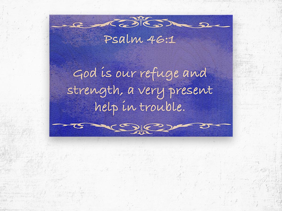 Psalm 46 1 3BL Wood print