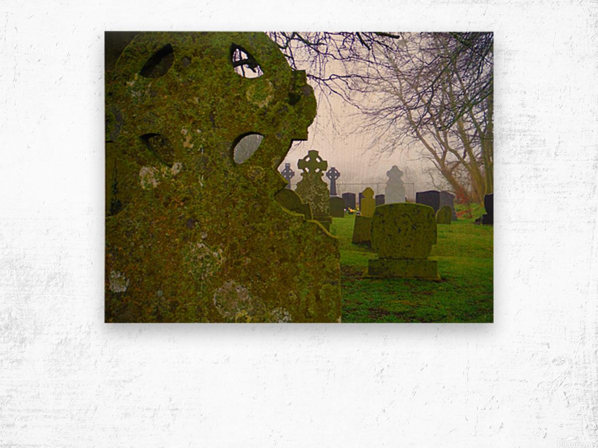 Irish Cemetery Wood print