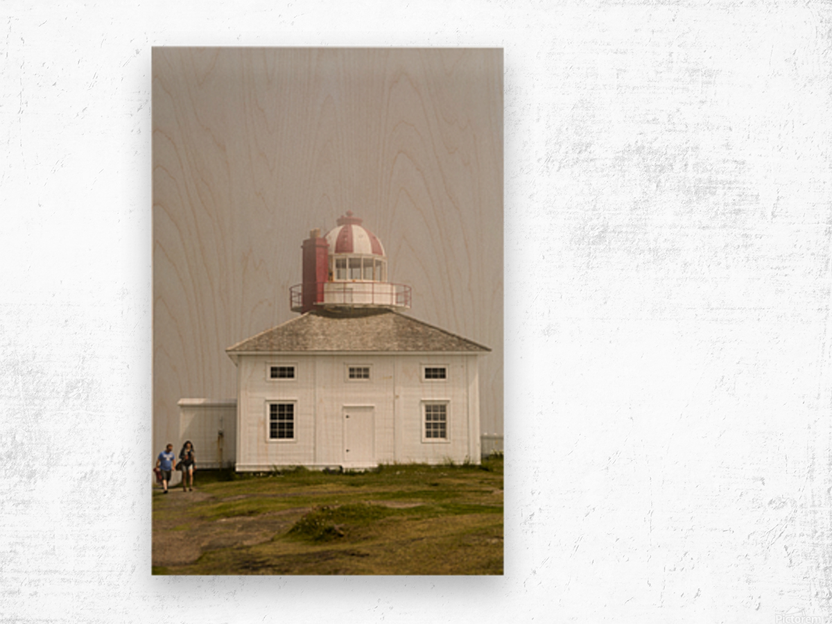 Original Cape Spear Lightkeepers house and light tower built in 1836 2 Wood print