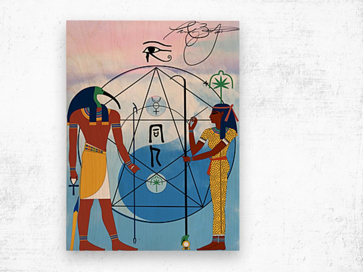 Egyptian Yin and Yang  Wood print
