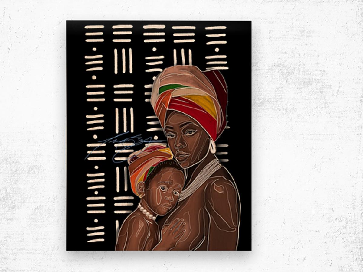 African Motherhood Wood print