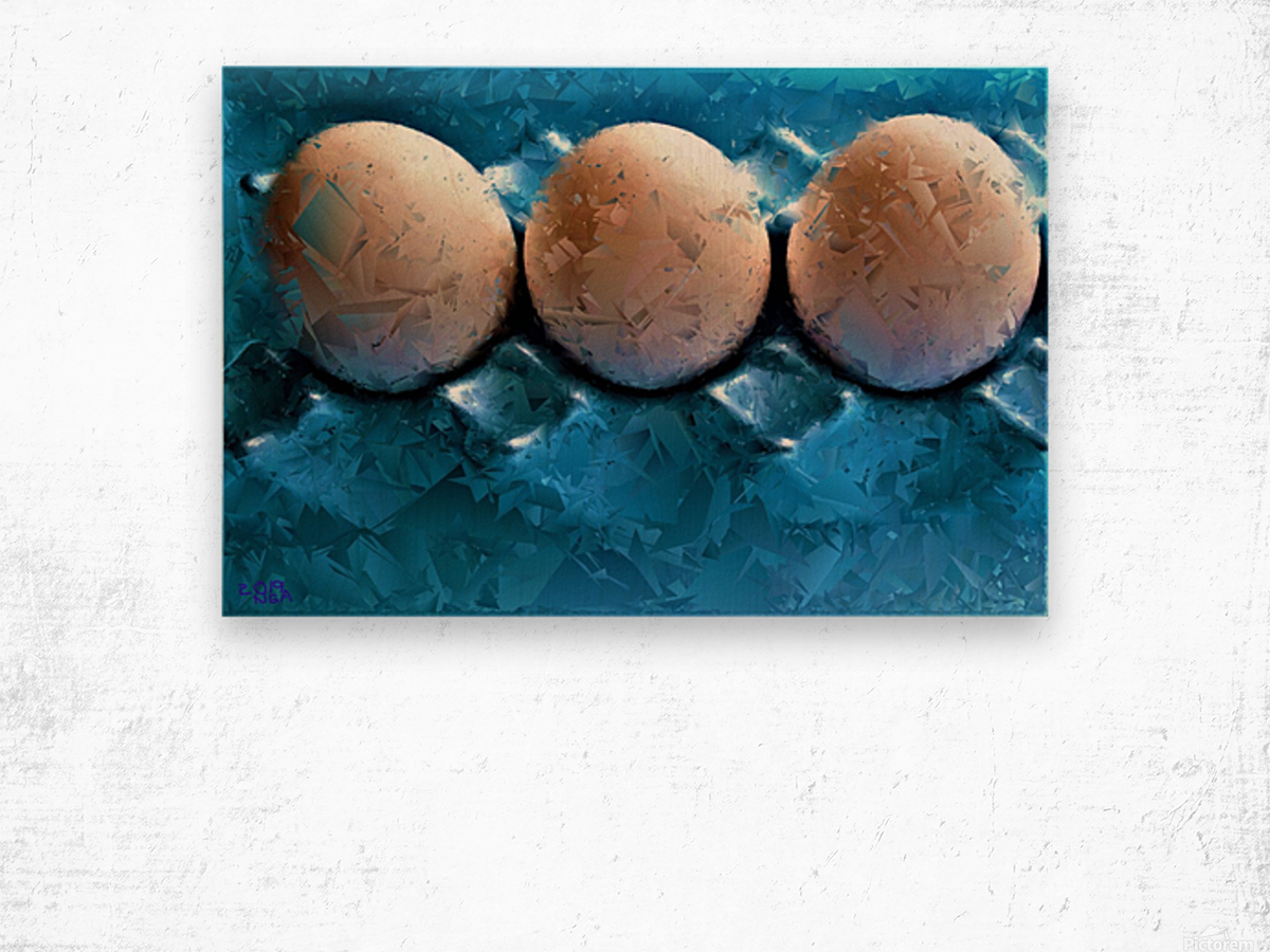Worlds Most LIKED Eggs  - by Neil Gairn Adams  Wood print