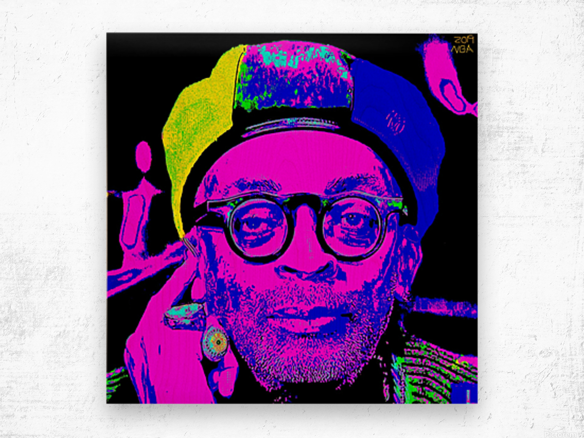 Spike Lee  -  by Neil Gairn Adams  Wood print