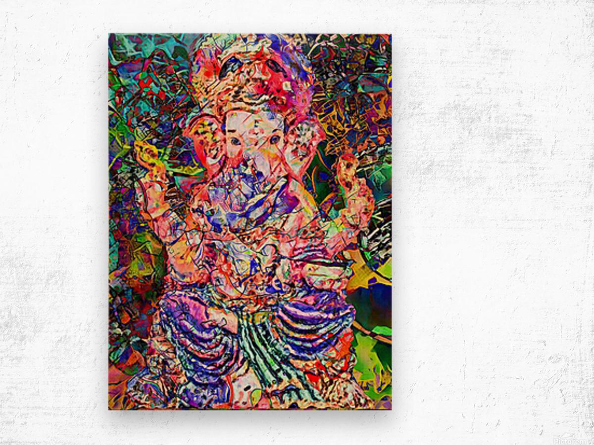 Divertido Ganesh  Wood print