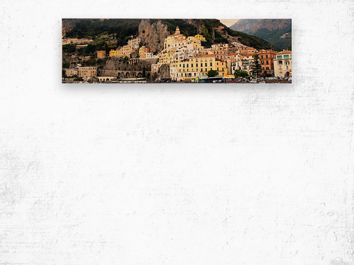 Amalfi Coast Super Panoramic  Wood print
