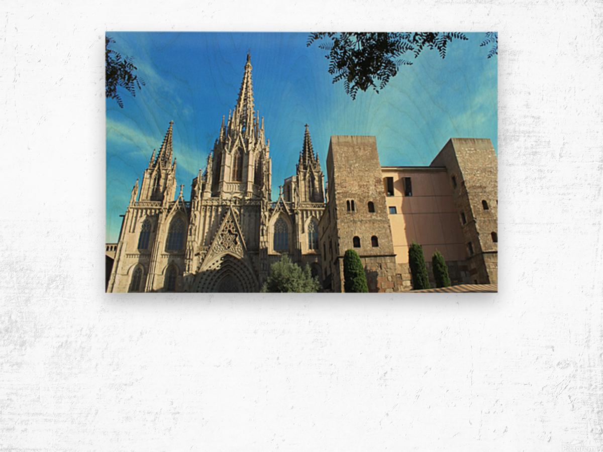Amazing Barcelona Cathedral Wood print
