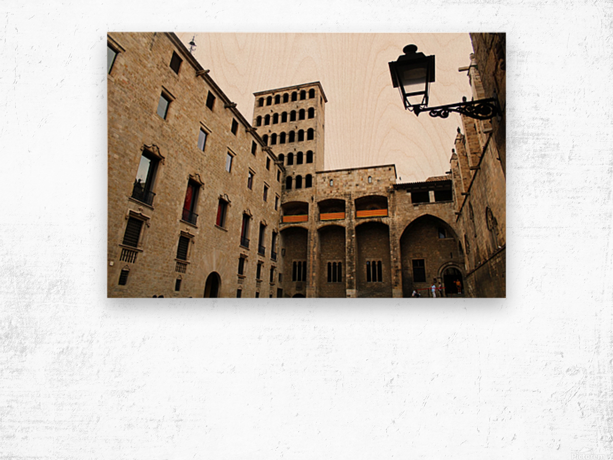 Gothic Quarter - Catalunya - Spain Landmark Wood print