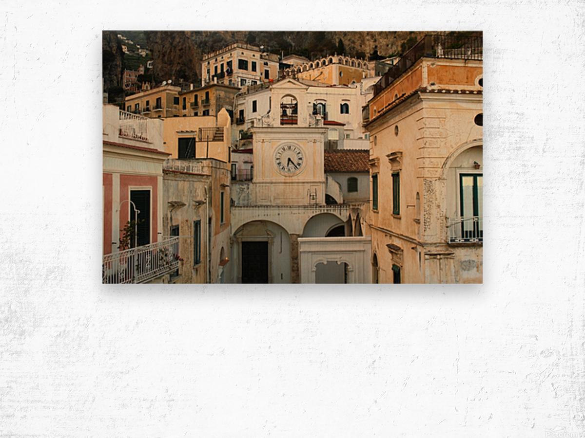 Church Clock - Italy  Impression sur bois