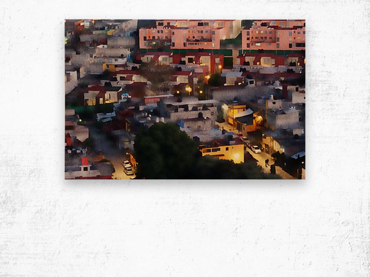 Town rendering Wood print