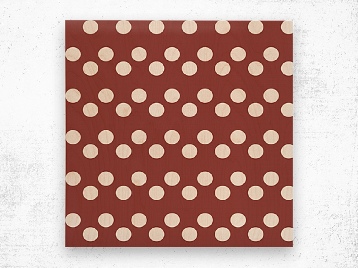 Chili Oil Polka Dots Wood print