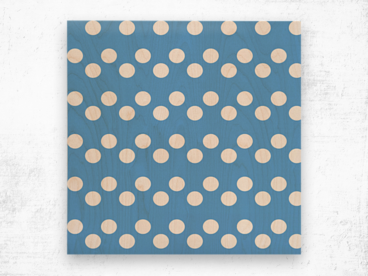 CORNFLOWER Polka Dots Wood print