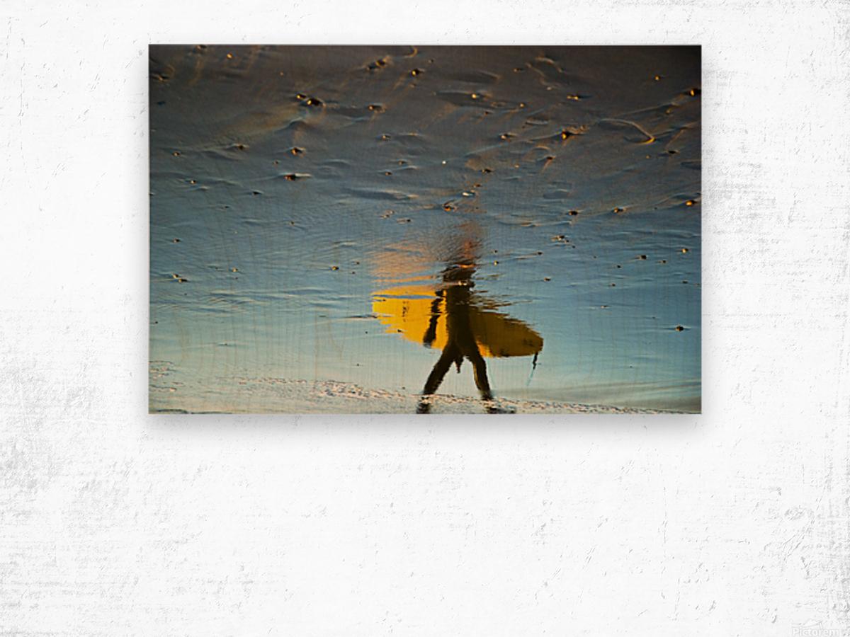 YELLOW SURFER Wood print