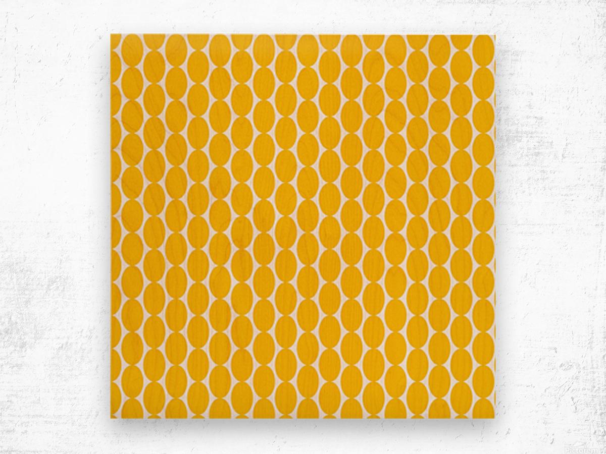 Yellow  egg shape Wood print