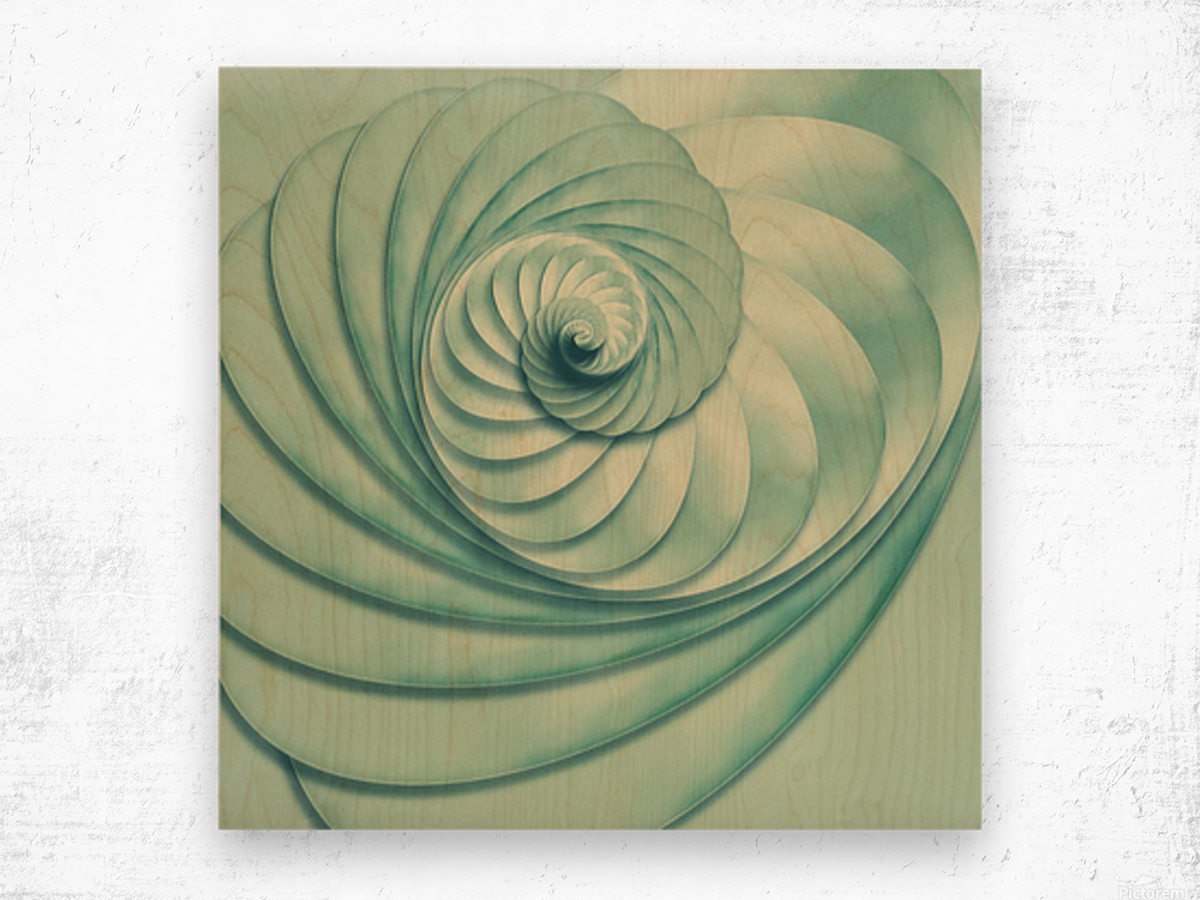 Composition in Celadon Wood print