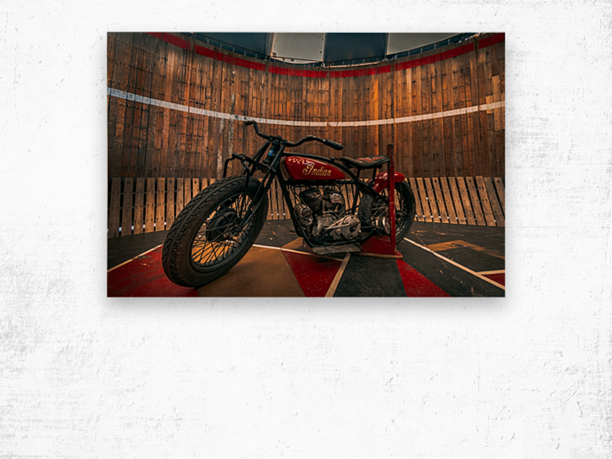 1927_Indian_Scout_Motorcycle Wood print