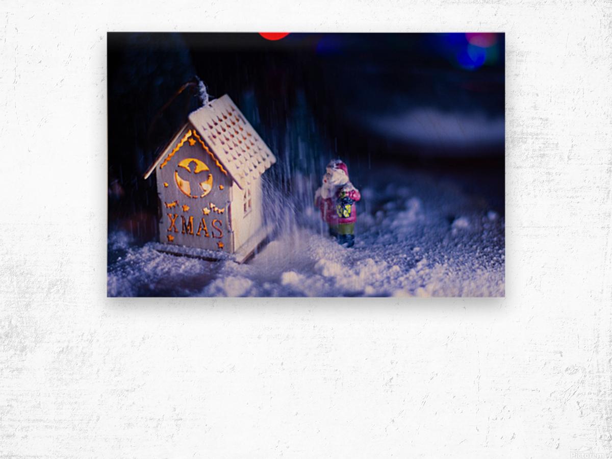 Christmas is coming Wood print