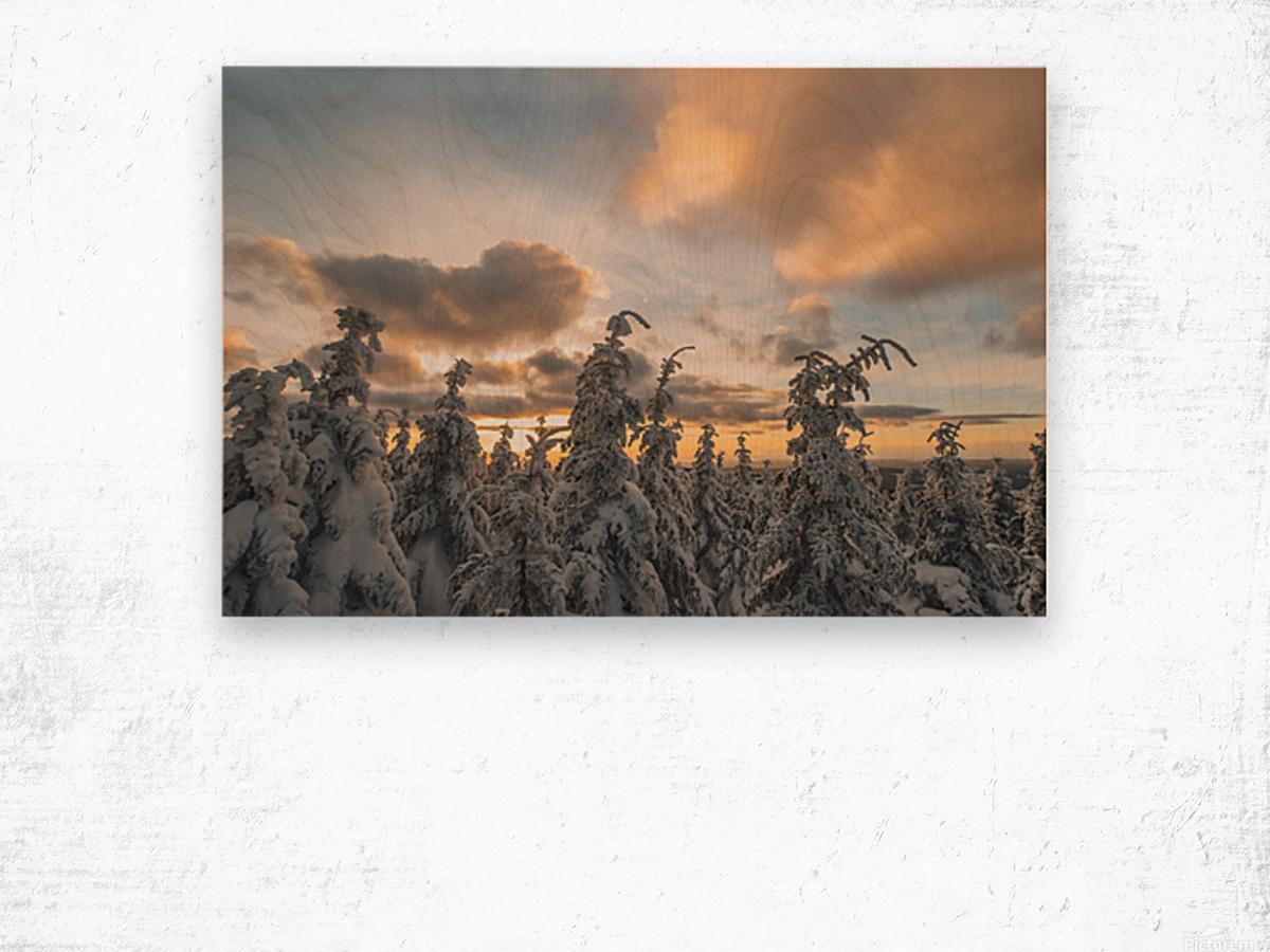 Winter sky Impression sur bois