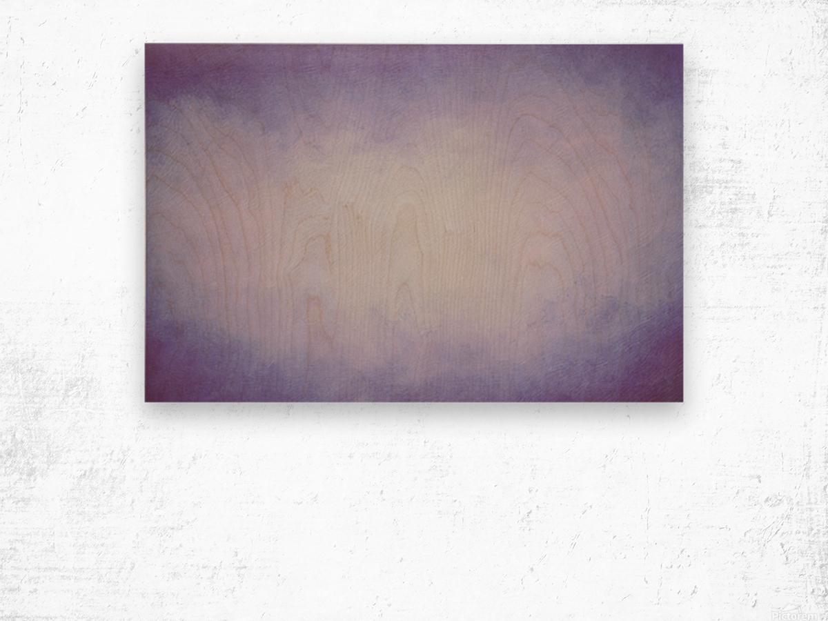 Lilac Mist Wood print