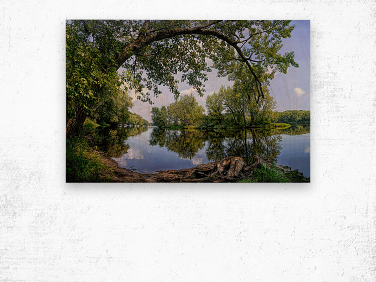 Calming Waters Wood print