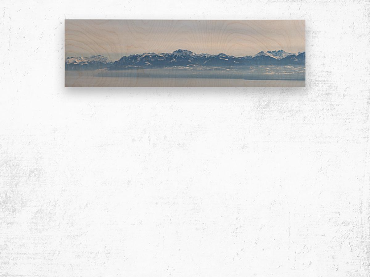 Lake Geneva and Alps Wood print