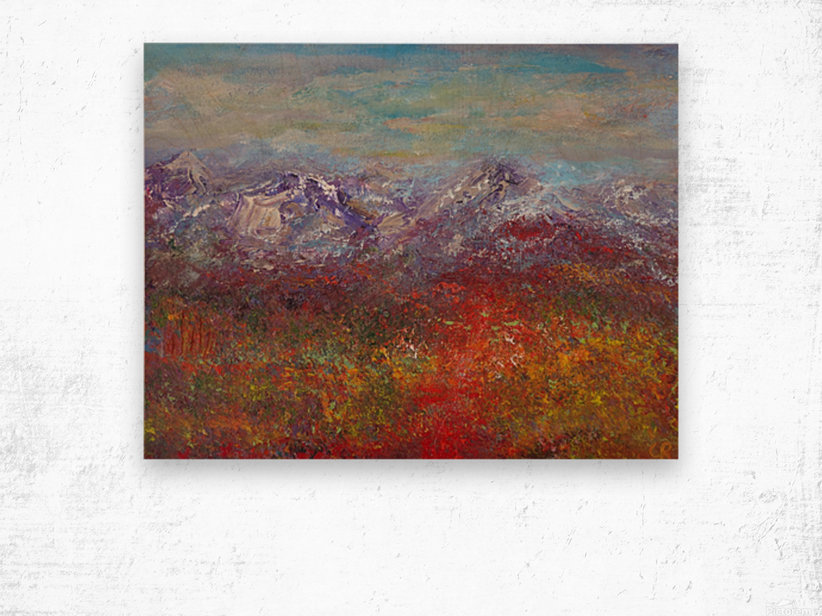 Fall colors in the San Juan National Forest Wood print