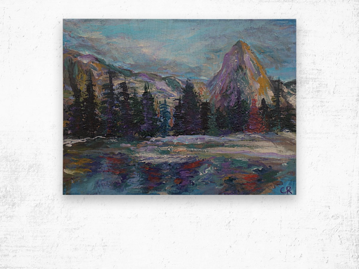 Lone Eagle Peak reflected in Mirror Lake Indian Peaks Wilderness Wood print