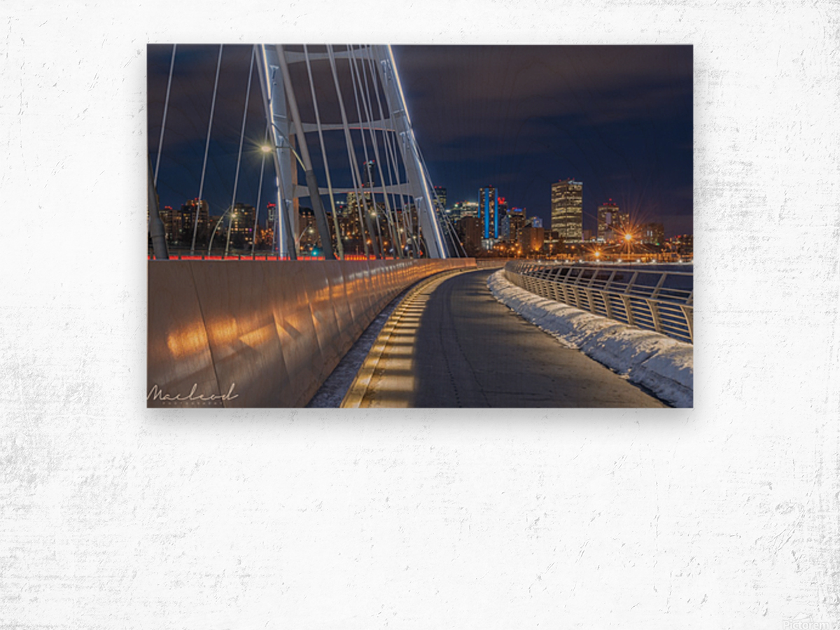 Walterdale_Bridge_NIK9898 Wood print