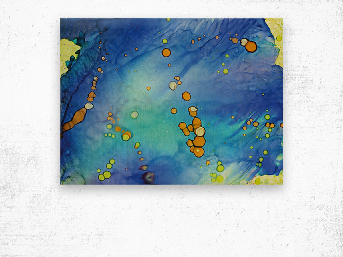 Bubbles in the Pool Wood print