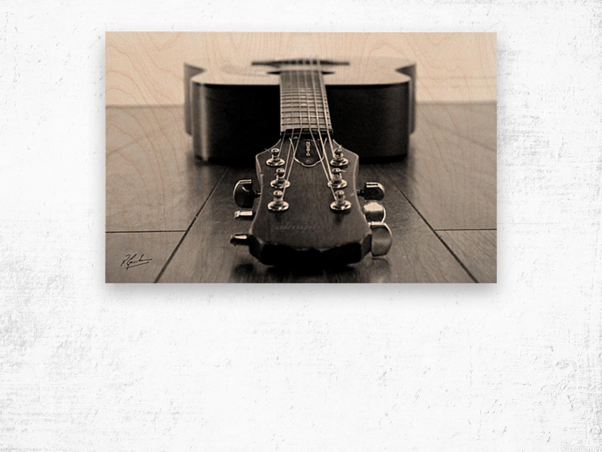 Gibson Guitar Wood print