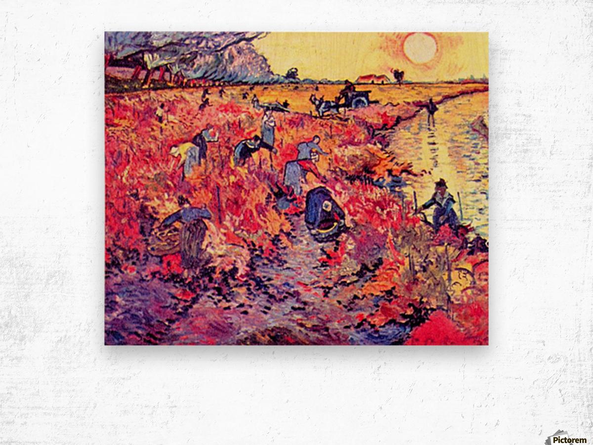 The red vines by Van Gogh Wood print