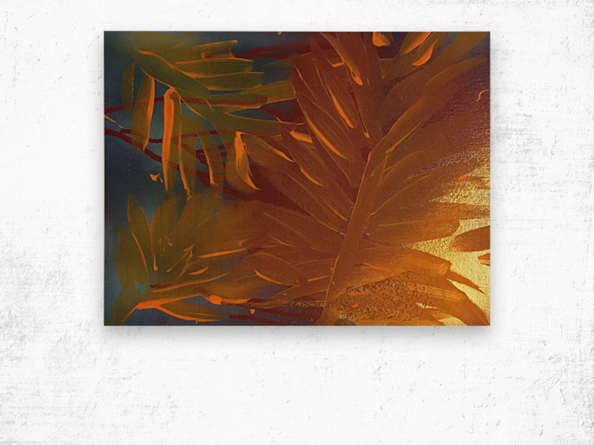 THE LEAF OF LIGHT Wood print