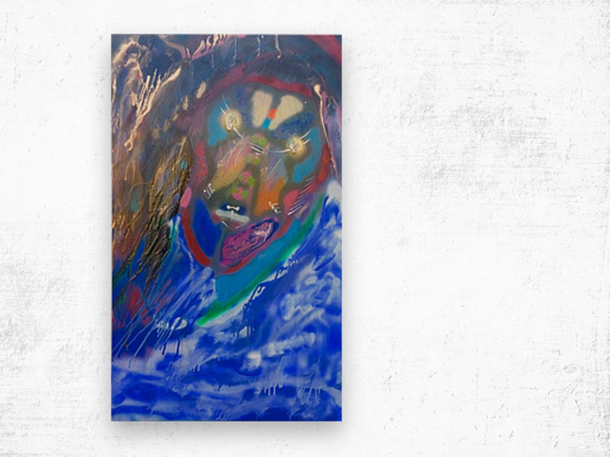 BLUE KING   Wood print