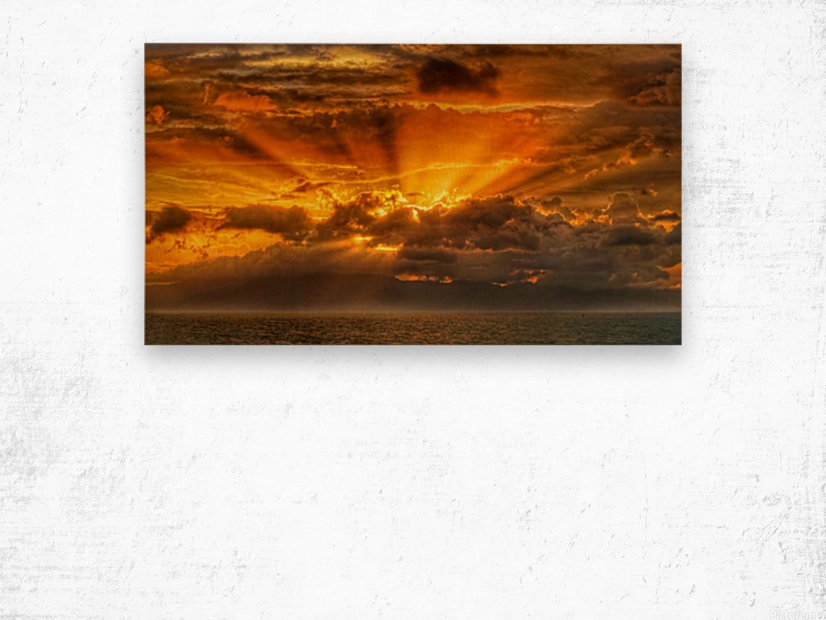 Polynesian Sunrise Wood print