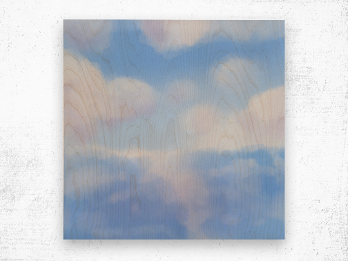 Happy Clouds - Original Artwork Wood print